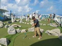 Mini golf on ship
