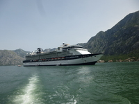 Constellation anchored at Kotor, Montenegro
