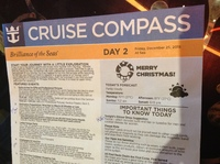 Cruise Compass is very Valuable and informative. A must read each day