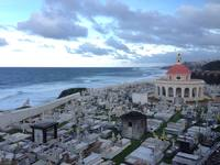 View of seaside cemetery taken from El Morro fort.