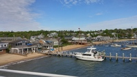 View from ship of docking area of Martha's Vineyard