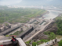 Three Gorges Dam from the viewing platform