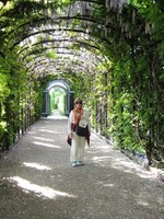 Beautiful gardens of Shoenbrunn Palace in Vienna. Our river cruise on Uniworld