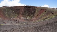 Mount Etna spent crater