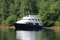 Safari Quest at anchor, Princess Louisa Inlet