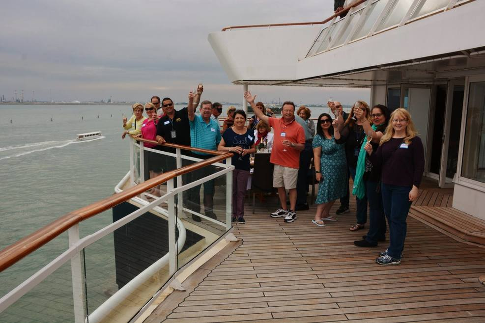 Sail away party from Venice, Italy - Penthouse 6147 Aft Deck