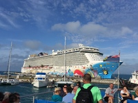 The beautiful NCL Breakaway at the  Bermuda Navy Dockyard