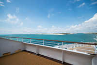 Fwd Penthouse 9502 Balcony - Pulling into Port Canaveral, FL