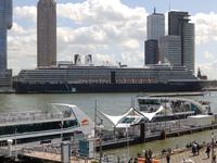 ms Zuiderdam at her dock in Rotterdam