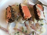 Best peppered salmon and fennel appetizer!!  It is just out of this world.
