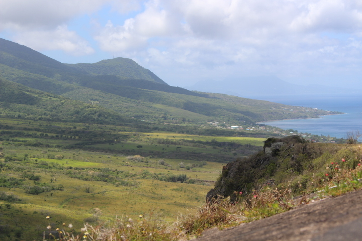 View from Brimstone Hill Fortress in St. Kitts