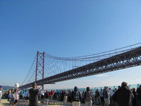 25th of April bridge that we went under in order to dock in Lisbon.