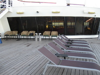 Smoking area on Deck 12 - no protection from the elements and the only seating
