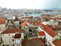 View from the tower of the Cathedral of St. Lawrence in Trogir (Split, Croa