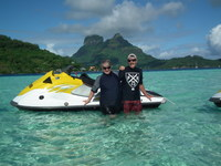 Jet-ski tour around Bora Bora