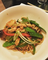 The chicken and shrimp noodles from The Noodle Bar were to die for!