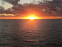 Sunsets are fabulous in the South Pacific. This is in Bora Bora.