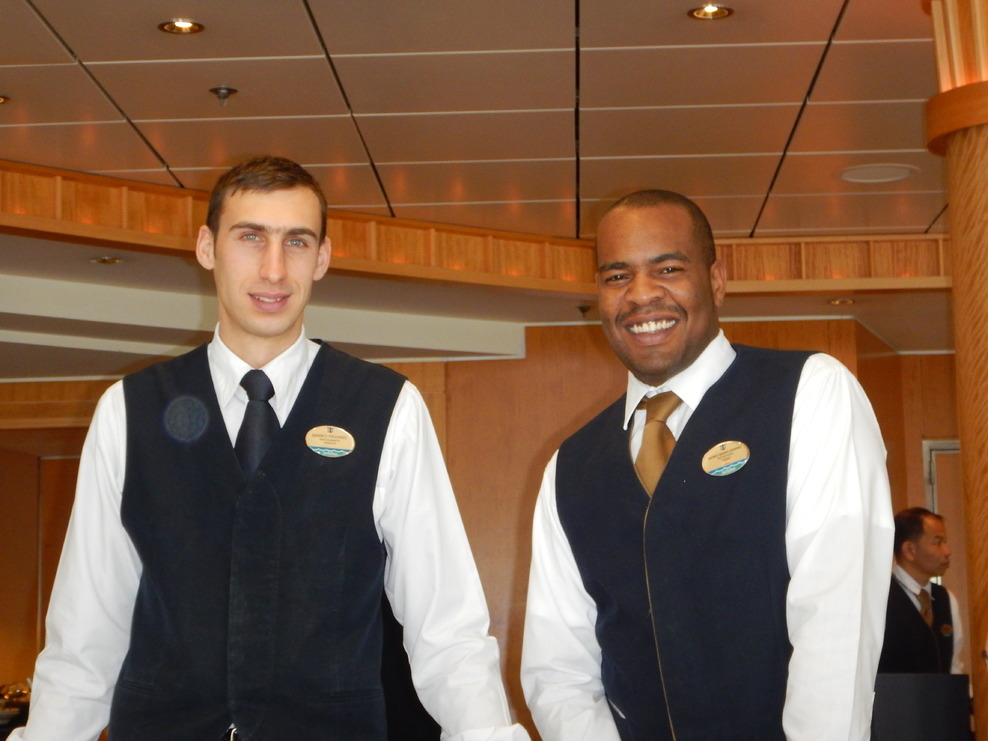 our wonderful waiters, Andres and Marko