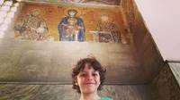Our son in Hagia Sophia.