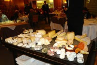 l'ambassade, in beziers, has a very impressive cheese trolley - our one meal ashore is up to anjodi's standard