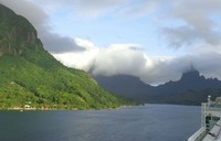 leaving Moorea..stunning