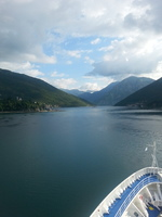 Entering Kotor, the most southerly fjord in Europe.