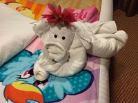 Lots of cool towel animals