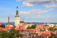 Overlooking Tallinn Old Town, Estonia.