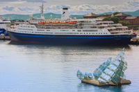 The Marco Polo berthed in Oslo Harbour, Norway © photography copyright of Sue Leonard