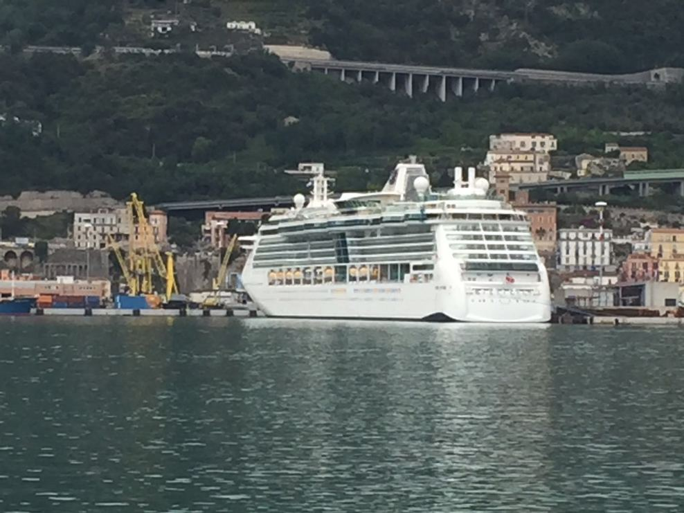 Ship docked in Solerno