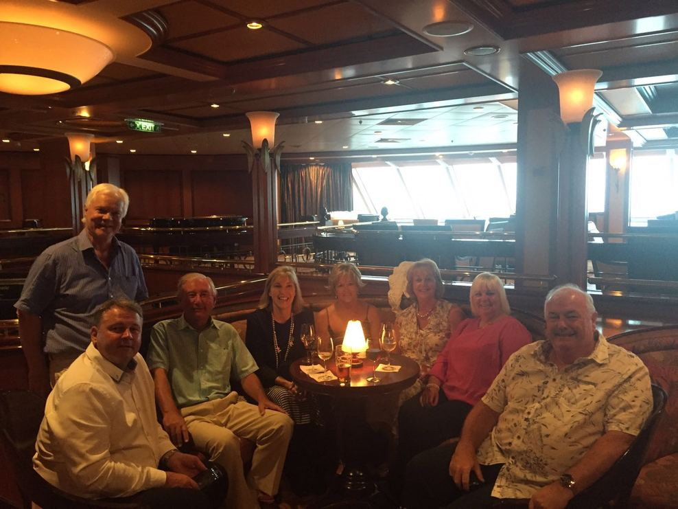 Our group on the last night of the cruise