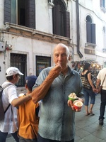 Eating gelato in Venice, Italy--a must!
