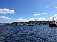 Leaving Arendal harbor on the way to Merdo island.