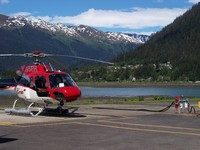 Helicopter ride in Juneau