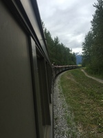 The train out of Ketchikan into Canada. An enjoyable and scenic day.
