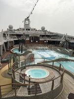 Main Pool deck and hot tubs