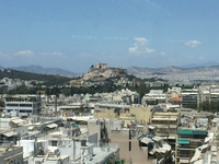 Athens view from the rooftop of Divani