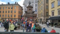 Plaza in Stockholm-Kids were having a field day.