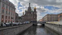 Church on Spilled Blood and Canal-St. Petersburg