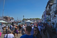 A beautiful sunny Sunday in Weymouth, England.