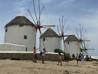 Windmills in Míkonos.