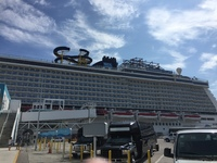 Embarkation, first view of the Norwegian Escape