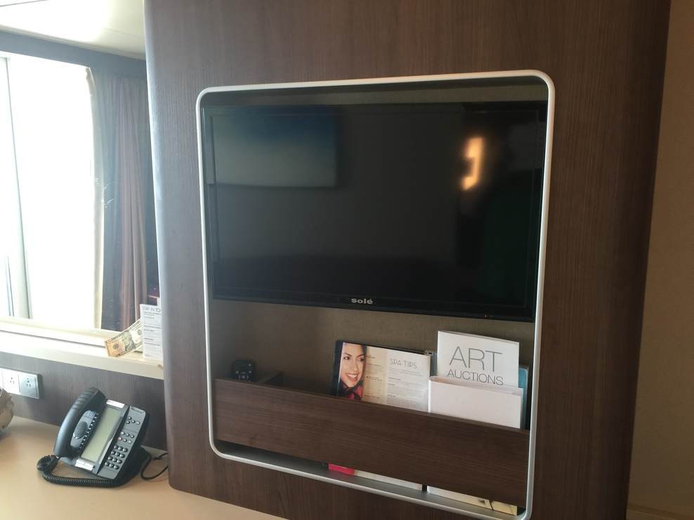Mid-ship mini-suite tv/storage