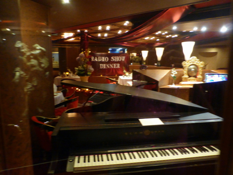 This is a photo of a Radio Show Dinner in the Pinnacle Grill.  Debby Bacon played at the events.