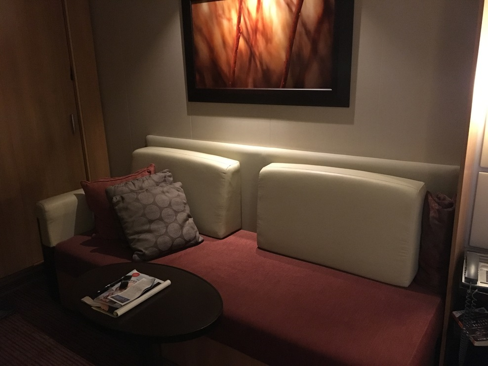 Stateroom sofa and art. Sorry - just not my style.