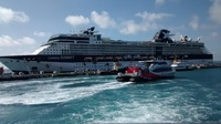 Celebrity Summit docked at King's Wharf in Bermuda.