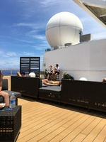 Listening to music on the Rooftop Terrace