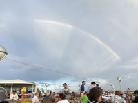 Double Rainbow on the Lido Deck
