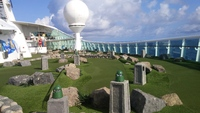 The mini-golf course on the Navigator of the Seas