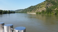 Cruising up the Rhone river